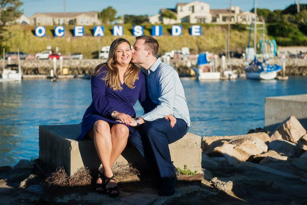 Couple Posing at Oceanside Harbor