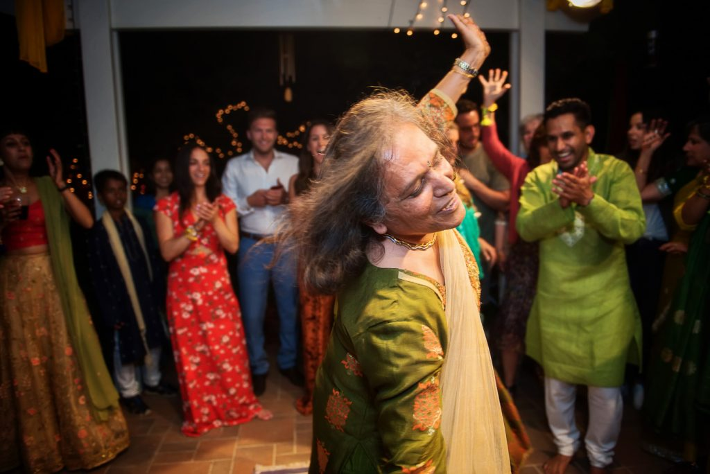 Guest Dancing at Mehndi Event