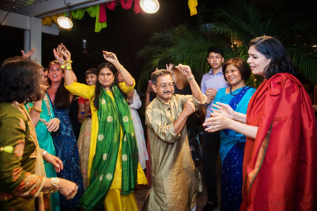 Guests dancing on Indian Songs at Mehndi
