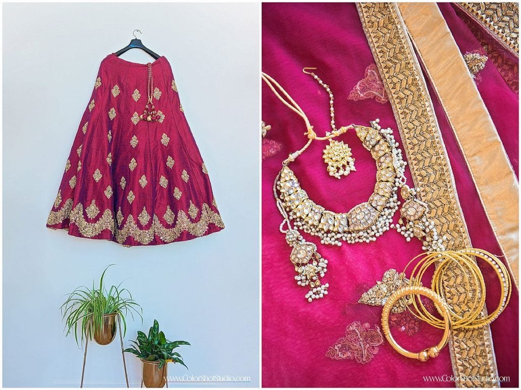 Indian Wedding Outfit at Engagement Party at Liberty Station by Color Shot Studio
