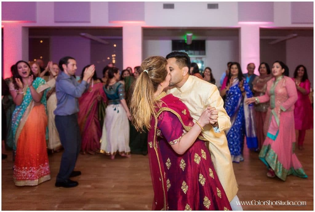 Dance at Engagement Party at Liberty Station by Color Shot Studio