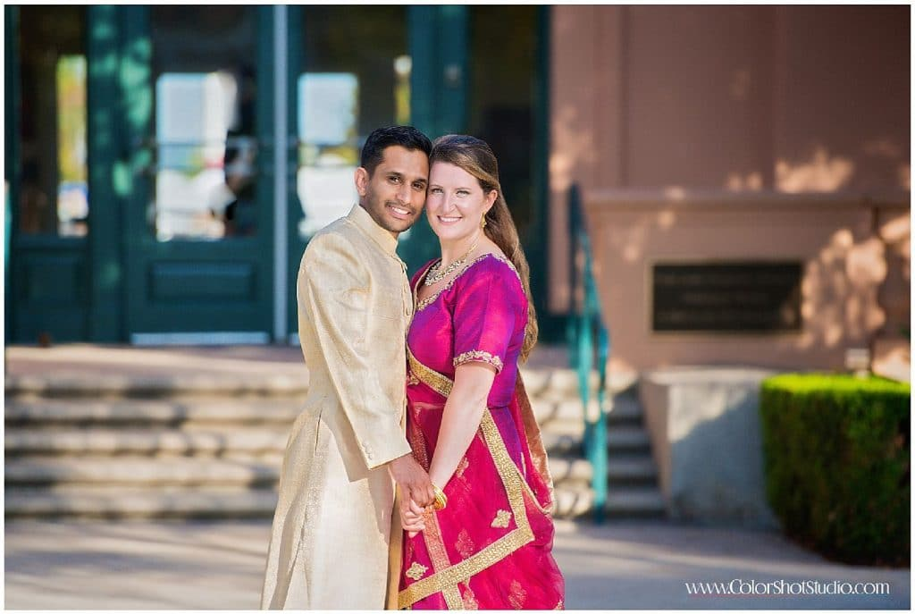 Couple at Engagement Party at Liberty Station by Color Shot Studio