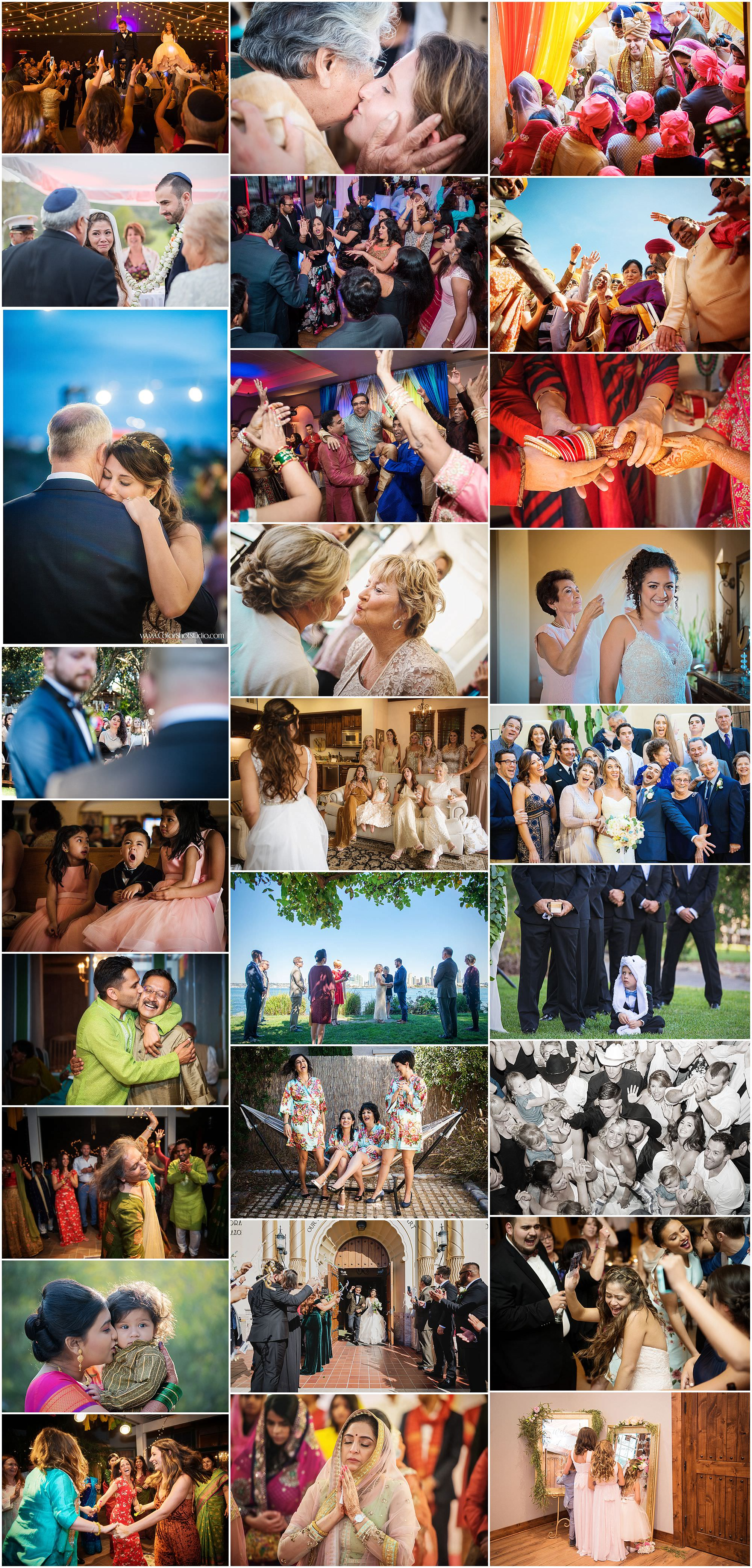 Collection of beautiful wedding moments