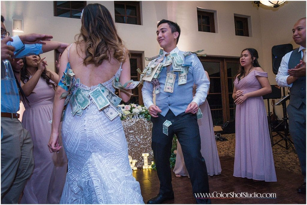 Money Dance during the wedding reception