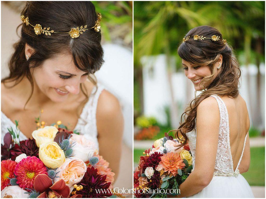 Bridal Portraits Omni la costa resort wedding photography by color shot studio