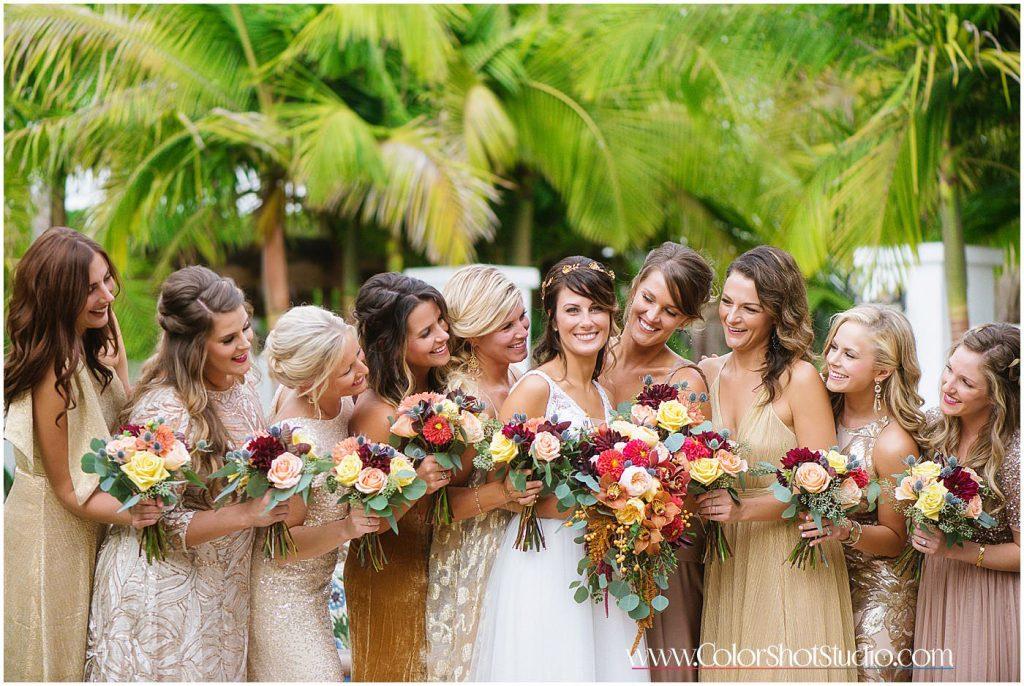 Bride and Bridesmaid group photo
