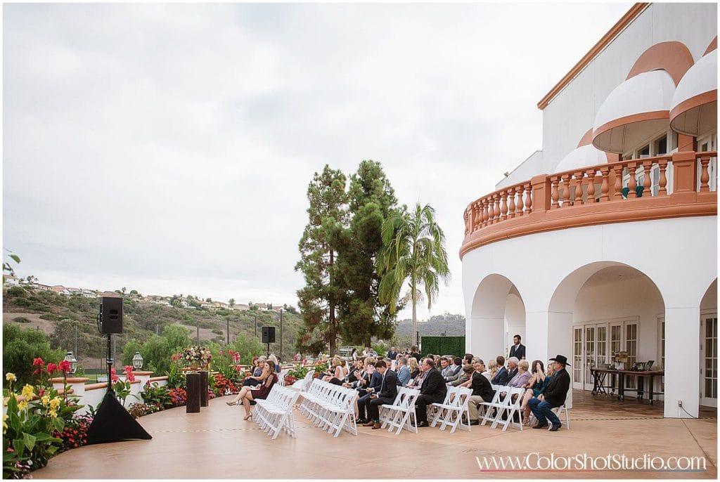 Wedding ceremony details Omni la costa resort wedding photography by color shot studio