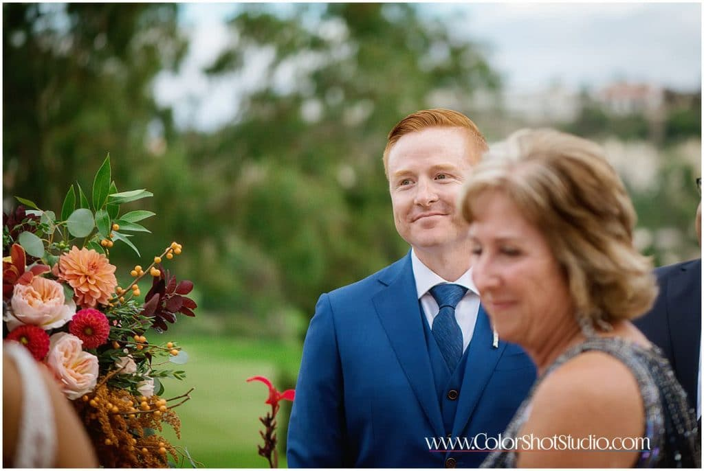 Grooms reaction after seeing bride for the first time