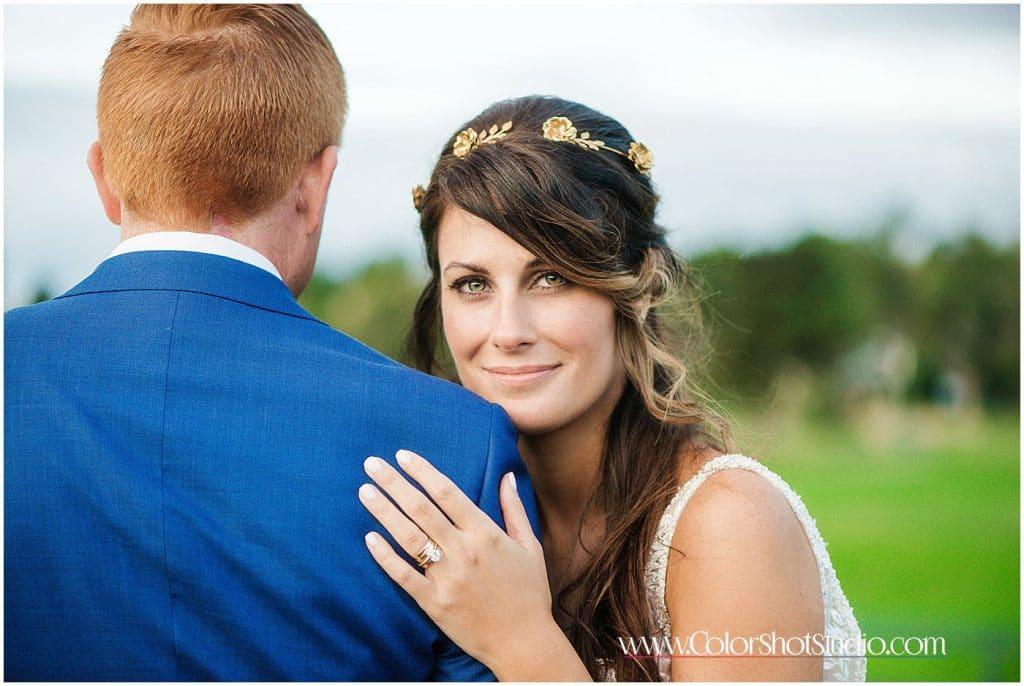Bride and groom portraits Omni la costa resort wedding photography by color shot studio