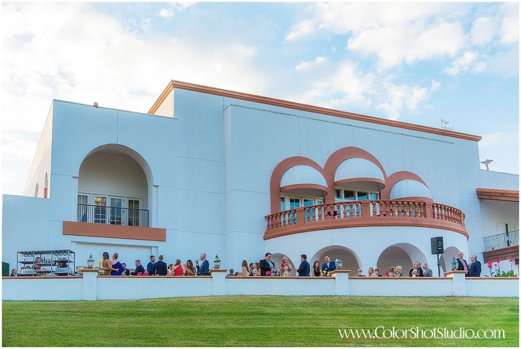 Wedding Venue captured from outside Omni la costa resort wedding photography by color shot studio