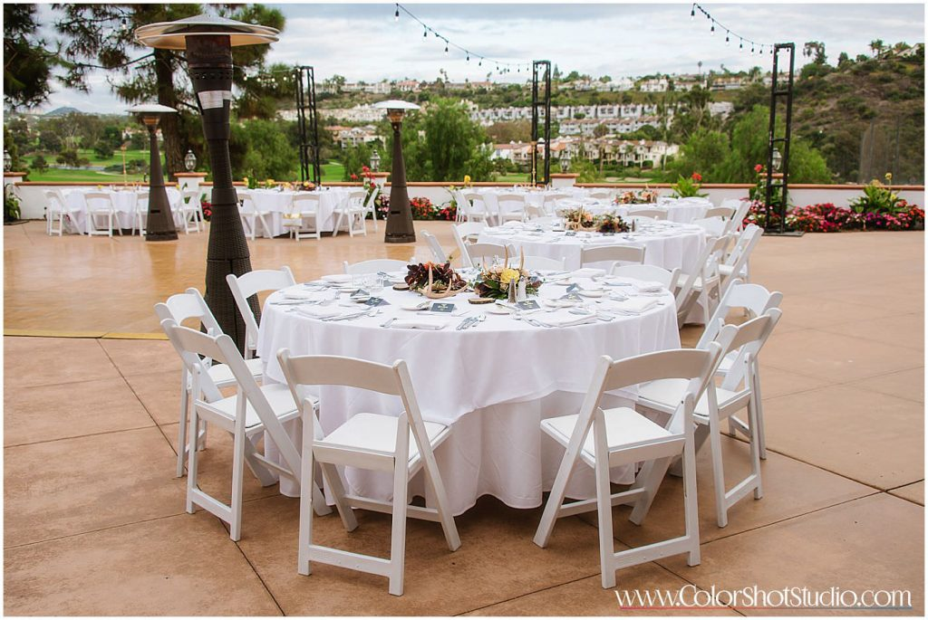 Wedding Reception Details Omni la costa resort wedding photography by color shot studio