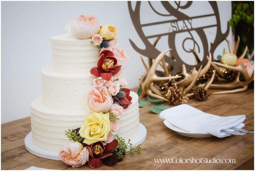 Wedding Cake and decorations Omni la costa resort wedding photography by color shot studio