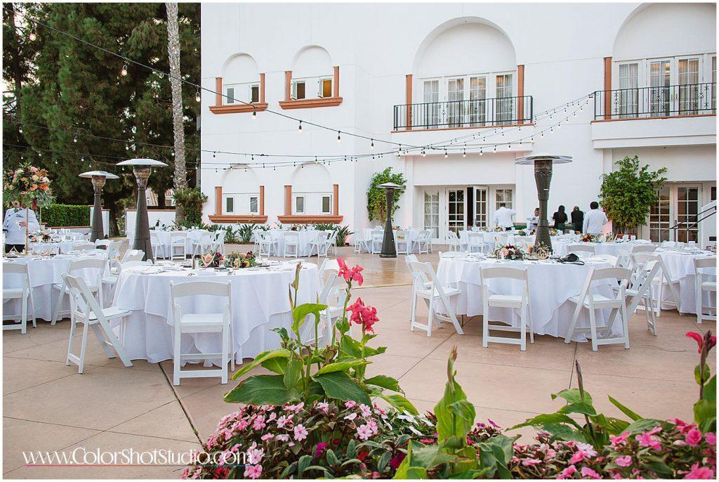 Wedding reception seating arrangements Omni la costa resort wedding photography by color shot studio