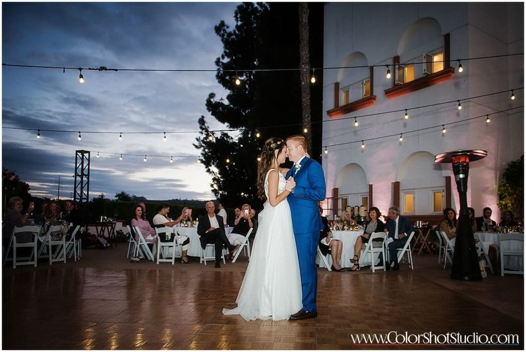 Bride and Groom First Dance Omni la costa resort wedding photography by color shot studio