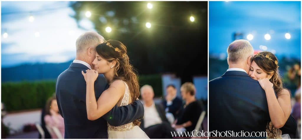 Father daughter dance Omni la costa resort wedding photography by color shot studio