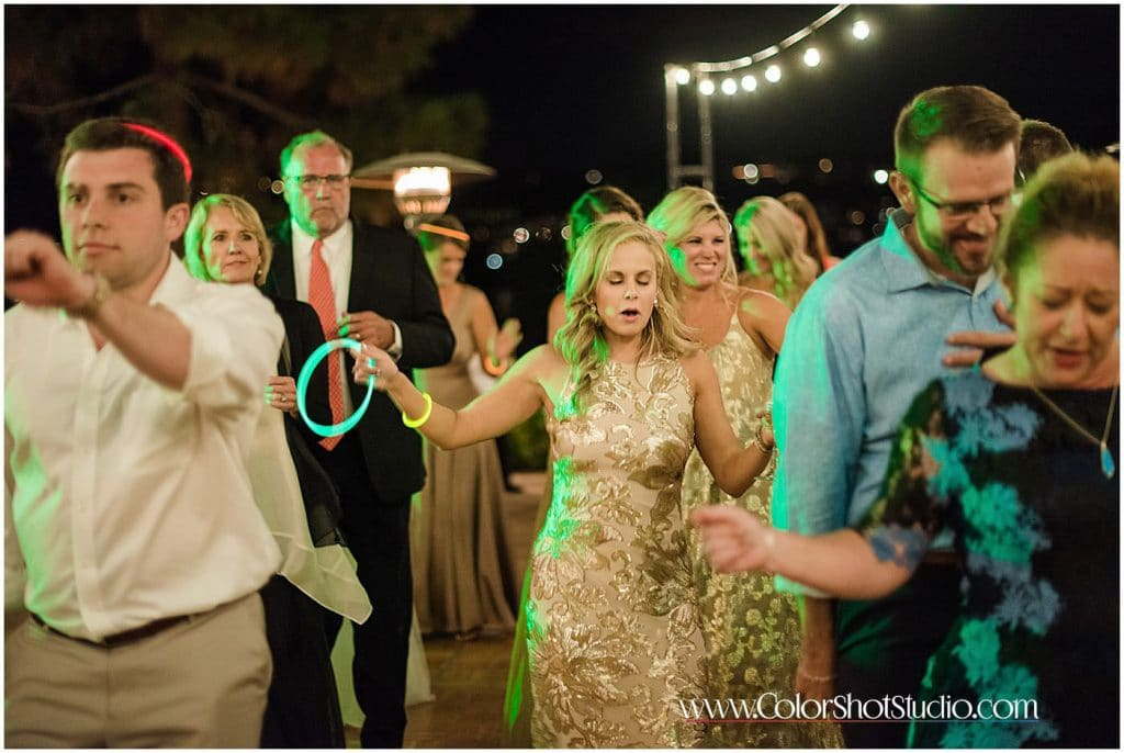 Guests on the dance floor during wedding reception