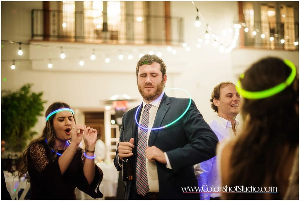 Brides brother dancing on the dance floor