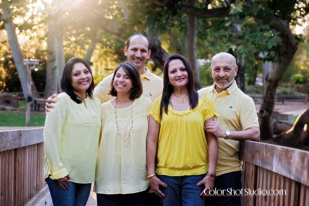 happy family at old Poway park